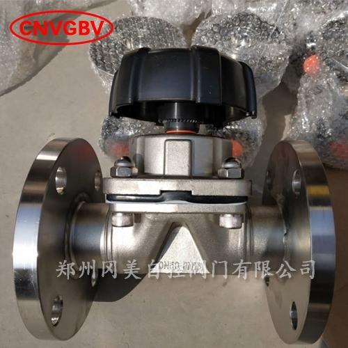 不锈钢法兰四氟隔膜阀GMG41F-16P/10P