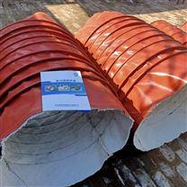 双层硅胶布阻燃伸缩通风软连接