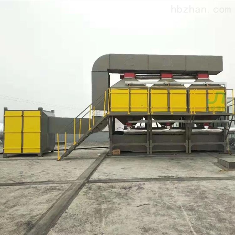 河北廊坊文安板材厂喷漆废气燃烧装置