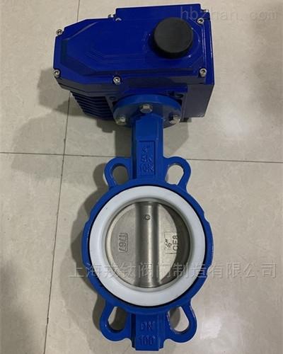 D971FP电动四氟不锈钢板蝶阀