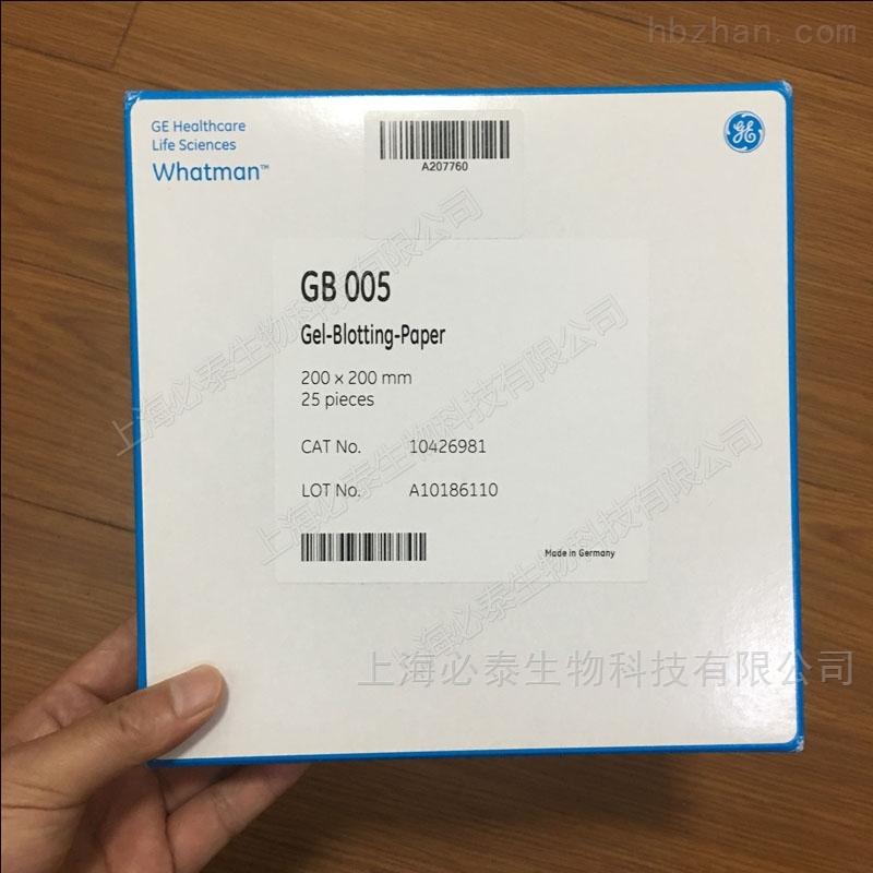 Whatman Grade GB005印迹滤纸200x200MM