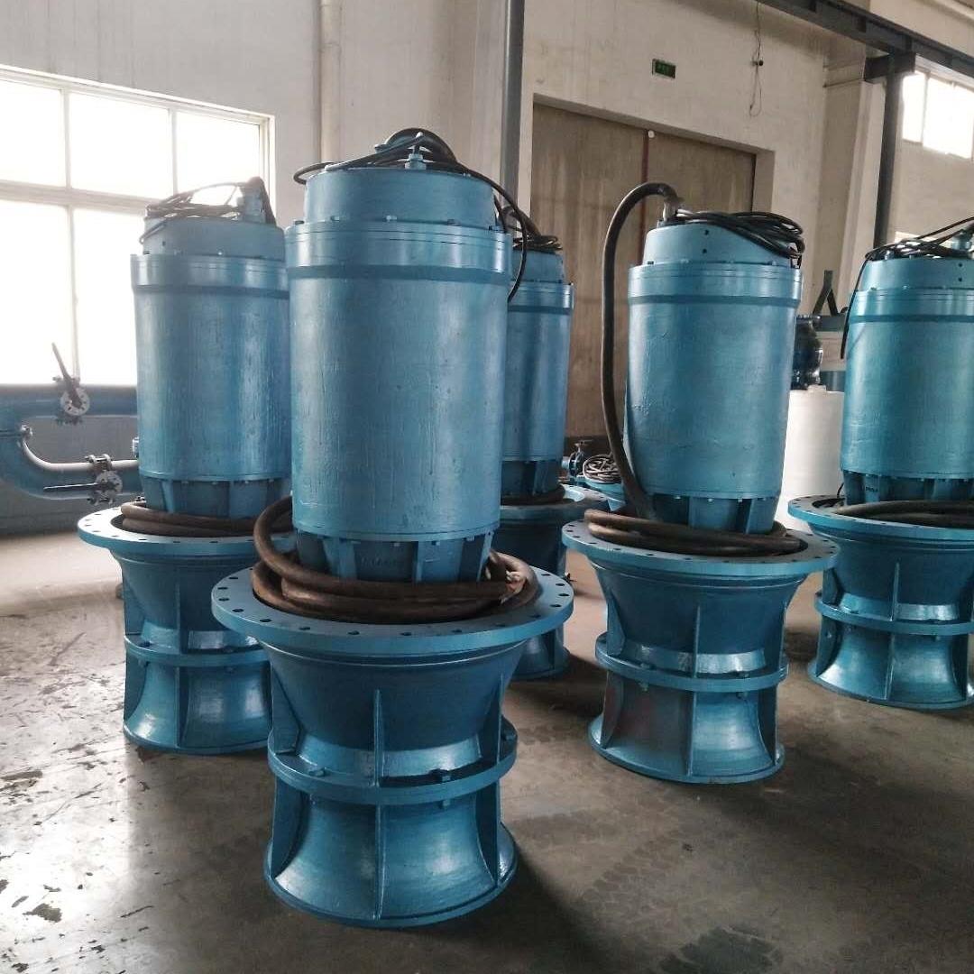 铸铁立式大流量潜水轴流泵应急排涝潜水电泵