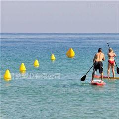 河道海上塑料警戒浮鼓