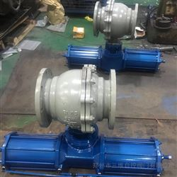 Q641F雙作用氣動球閥