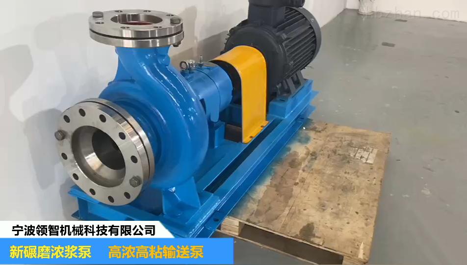 宁波领智机械科技—新碾磨浓浆泵