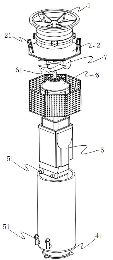 液压潜水泵爆炸图