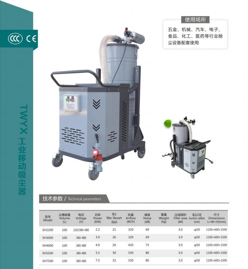 SH3000脉冲工业吸尘器  3KW大吸力全自动脉冲工业吸尘器厂家示例图2