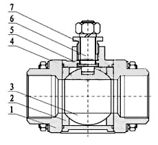 三片式气动球阀(阀体)