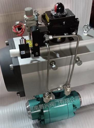 气动高温高压锻钢硬密封焊接球阀