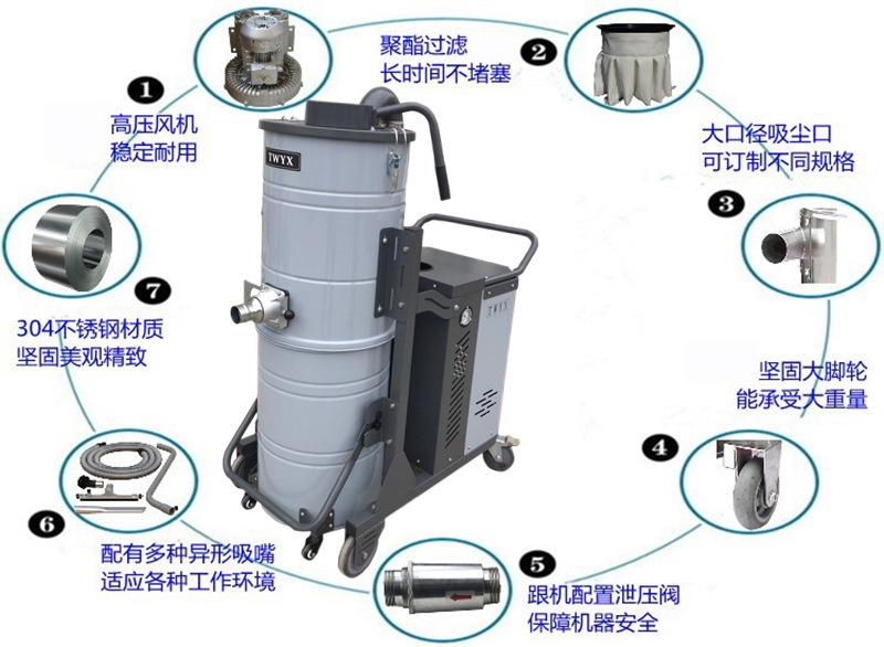 平面磨床吸尘器 工业粉末吸尘器车间干湿两用强吸力吸尘器示例图23