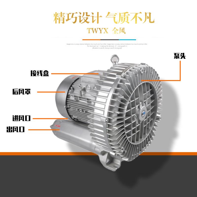 厂家3KW高压风机漩涡气泵 注塑机高压漩涡鼓风机示例图3