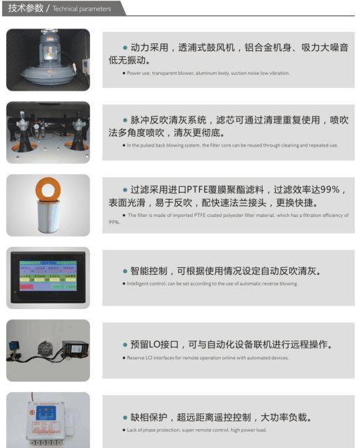 玻璃纤维复合材料滤筒集尘器 碳纤维粉尘收集脉冲滤筒集尘器    集尘器厂家 可非标定制示例图21