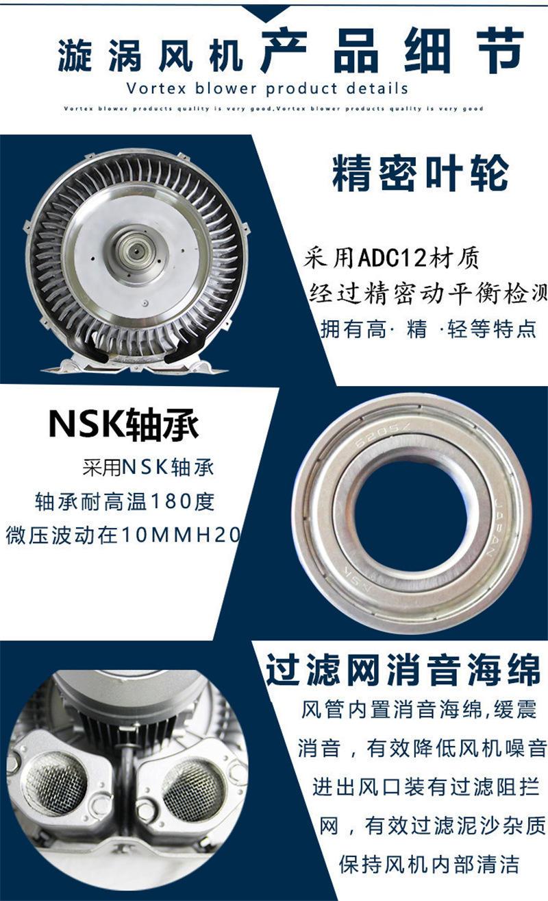 厂家CX-75A/0.75KW中压风机 燃烧机中压风机 燃烧机铝合金鼓风机示例图9
