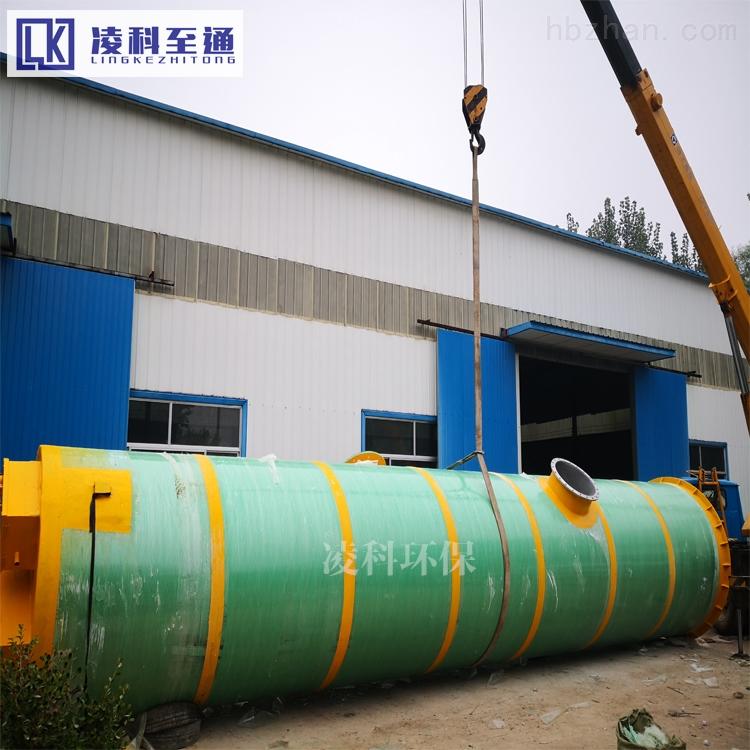 常德一体化雨水预制泵站用于低洼处雨污水排涝