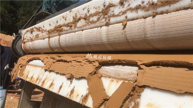 广东洗石粉污泥压榨机效果