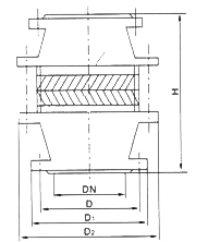 FWL-1管道阻火器图