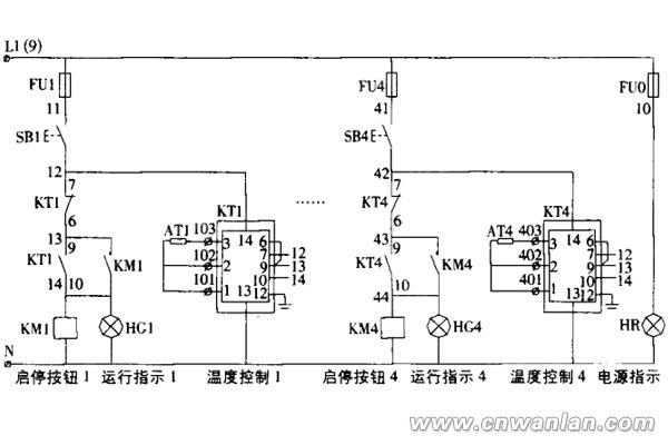 电伴热带温度控制原理图