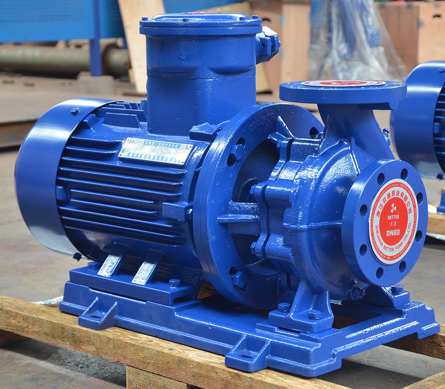 喜之泉ISWB80-200A卧式管道离心泵,防爆型离心泵,管道离心泵示例图1