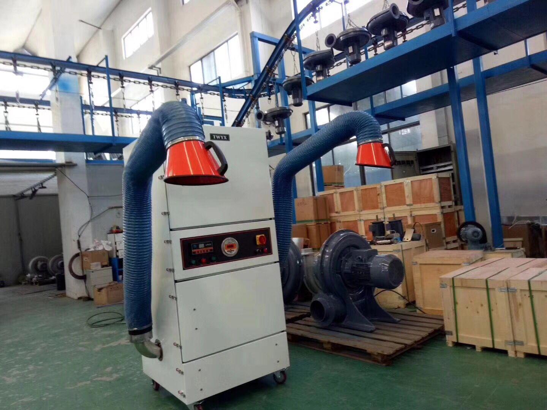 厂家磨床吸尘器  0.75kw磨床粉尘除尘器  JC-750-2砂轮机打磨集尘器   机床铝屑粉尘吸尘器移动式示例图10