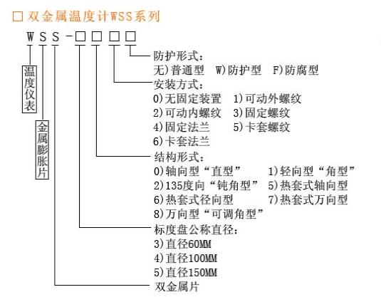 双华仪表 双金属温度计 温湿度仪表 WSS示例图1