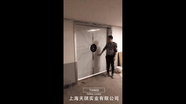 抖音掌纹开门自动门效果图
