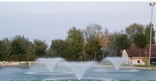 漂浮式噴泉曝氣機