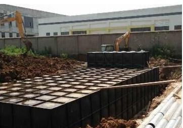 河北石家庄300吨型号XBZ-300-0.65/40-M-II抗浮式增压箱泵一体化给水设备(泵站)