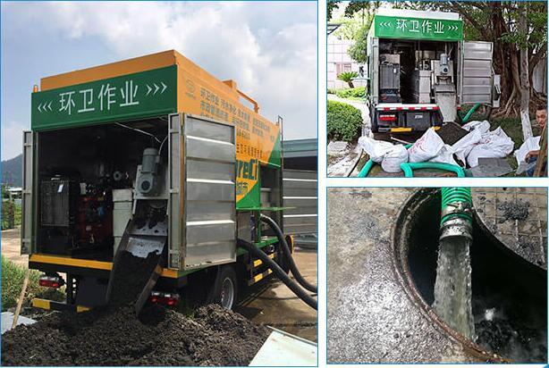 化粪池直抽车,污水净化车,移动污泥脱水车