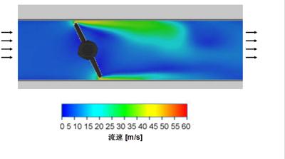蝶阀从全开到全闭,流体速度的变化过程演示.jpg