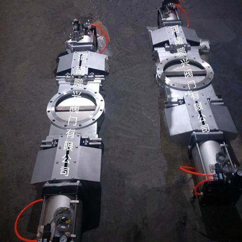 不锈钢气动双向开式刀型闸阀