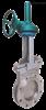 PZ573H/Y伞齿轮对夹式刀型闸阀